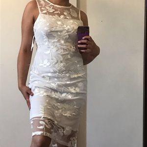 Calvin Klein white midi dress